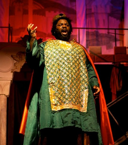Emperor Justinian from the 2011 production of Amphion. Photo taken by Heather Keating.