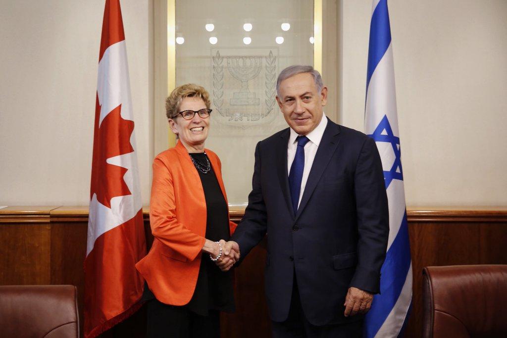 Wynne and Netanyahu.
