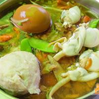 【屏東東港小吃】阿卿姐飯湯 在地人推薦東港特色海鮮飯湯可以加西施舌、福州丸、滷蛋
