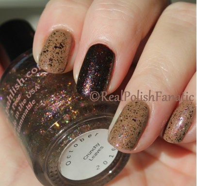 Layla Ceramic Effect - CE 19 & Pahlish October 2016 Duo - Scarves and Sweaters & Crunchy Leaves