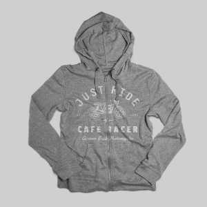 grey cafe racer hoodie
