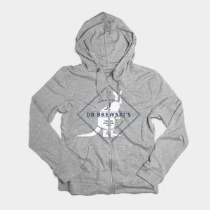 grey da Brewskis hoodie