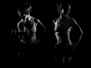 woman doing strength training exercises