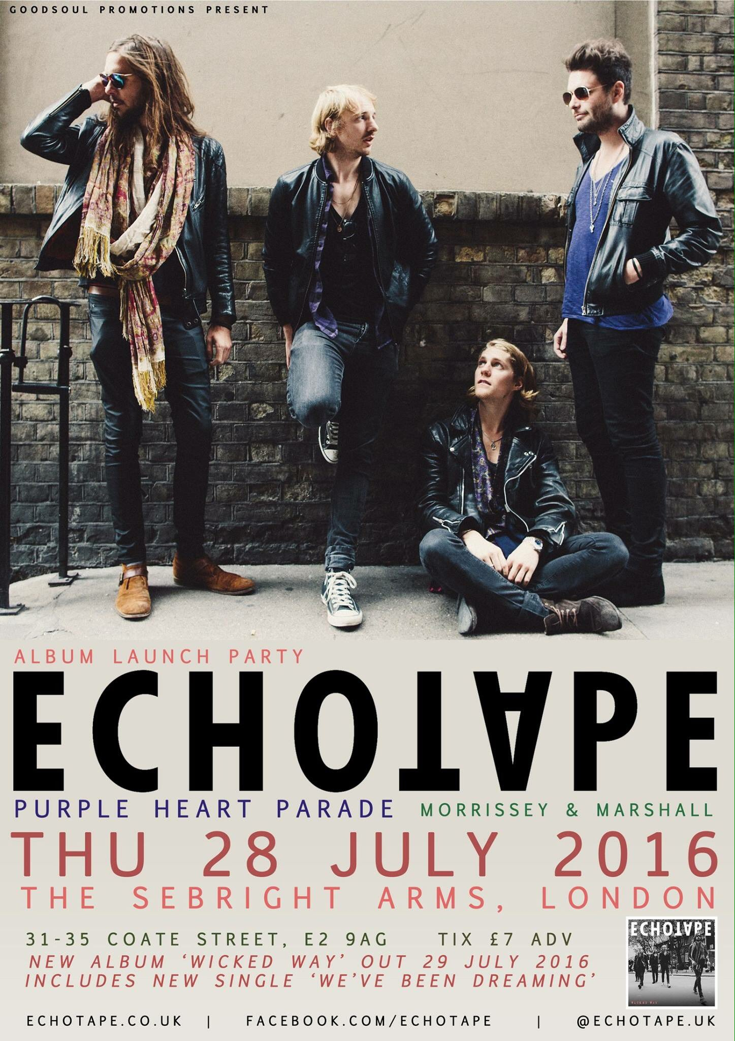 Gig review: Echotape – Album Launch Show – Sebright Arms – 28th July 2016