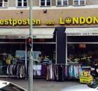 "Ein Laden in Berlin mit dem Namen ""Restposten aus London"""