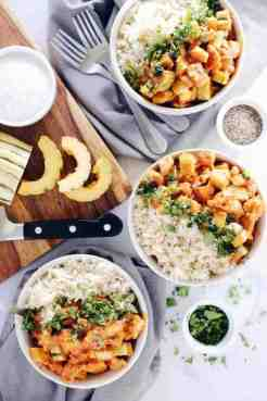 RED CURRY SQUASH CHICKEN BOWLS