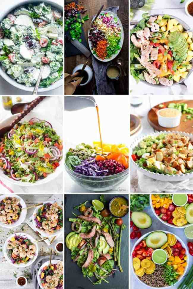 The flavors of this Paleo + Whole30 mediterranean chicken salad take it a notch above the typical salad. It's fresh, flavorful and so easy to make! Filled with fresh lettuce, chicken, olives, roasted peppers, artichoke hearts, red onion and homemade dressing. Paleo + Whole30.   realsimplegood.com