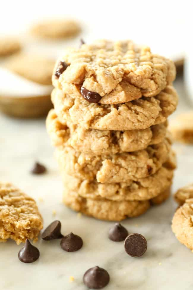 Stack of 6 keto cookies.