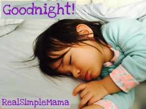 bedsharing goodnight! - Real Simple Mama