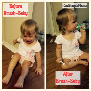 teether toddler cry image Review: Brush-Baby - Real Simple Mama