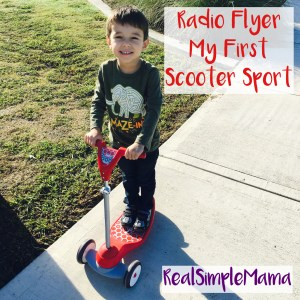 Review: Radio Flyer All-Terrain Stroll N Trike, and My First Scooter Sport - Real Simple Mama kid ride play toy buy image title