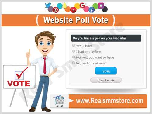 Buy Real Poll Vote