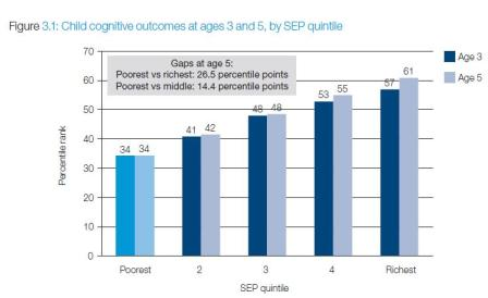 Differences in 'cognitive ability' by income and age