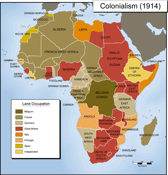 1914 - British Colonies in Red