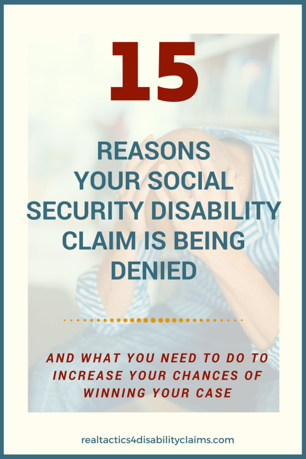 15 reasons Your Disability Claim is Being Denied realtactics (1)