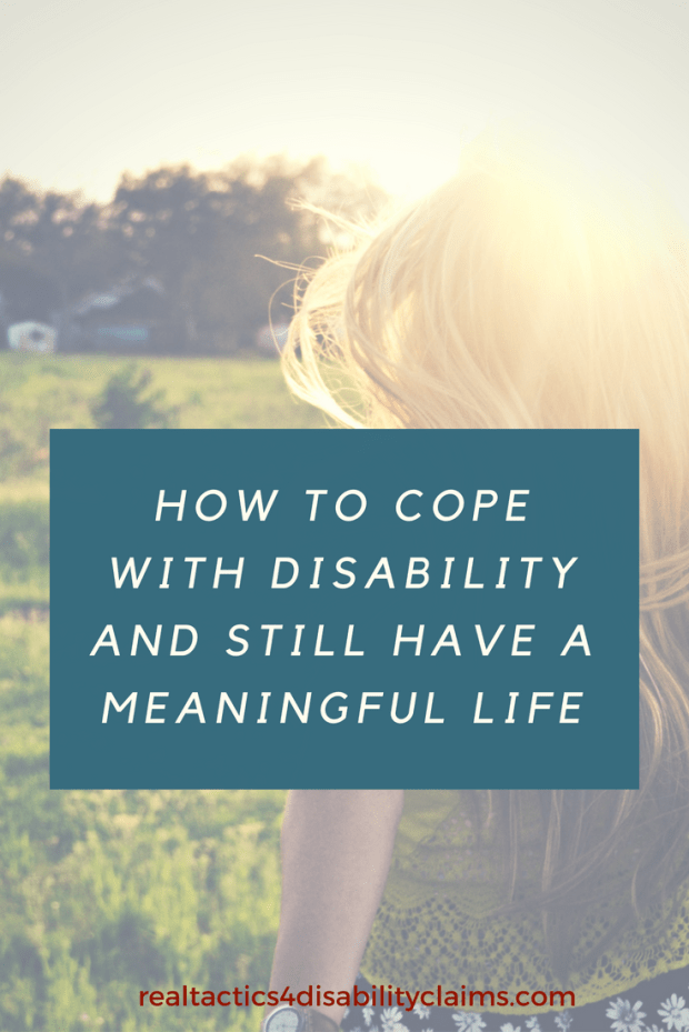 It's tough to cope with disability and find meaning in life. Learn how to accept your new role in society and find happiness in the process.