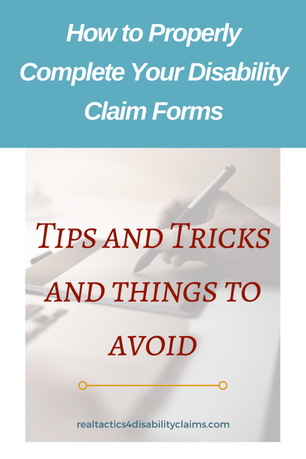 disability claim forms how to complete and tips and tricks