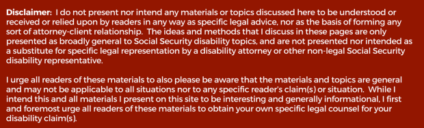 Disclaimer file for social security