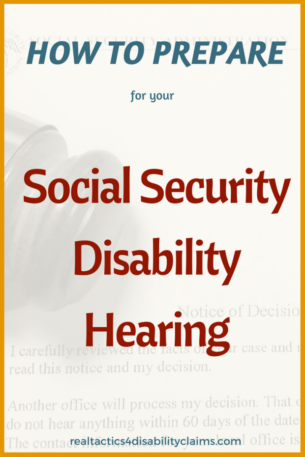 How to Prepare disability hearing Pinterest