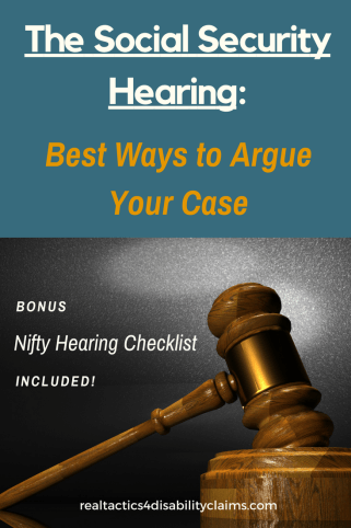 The Social Security disability Hearing. Nifty Hearing Checklist included