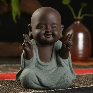 Little Buddhist Monk Ceramic Figurine 3