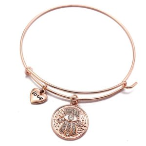 Women's Hamsa Hand Bangle Bracelet 7