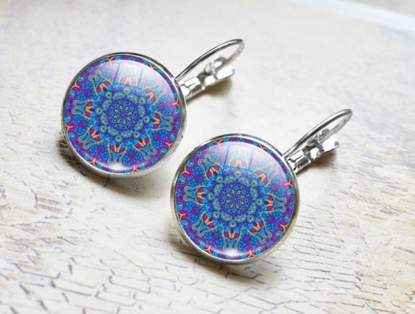 Women's Mandala Glass Earrings 2
