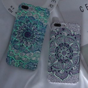 Luminous Mandala Print Case for iPhone 8