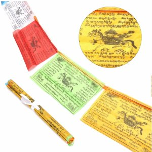 Mix Color Buddhist Prayer Flags 20 Pcs Set 1