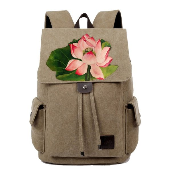 Women's Hand Made Lotus Backpack 1