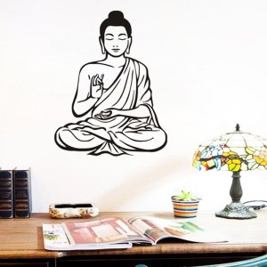 Meditating Buddha Wall Sticker 15
