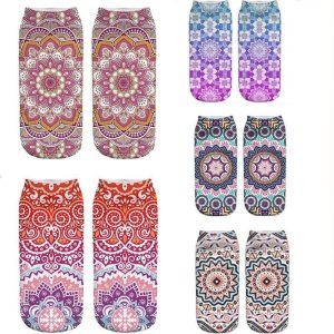 Women's Mandala Print Socks 19