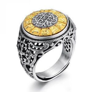925 Sterling Silver Rotatable Mantra Ring 1
