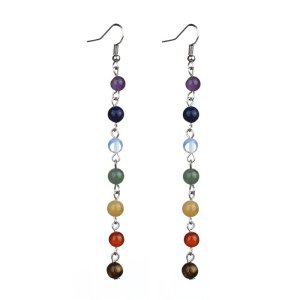 Women's 7 Chakra Beaded Drop Earrings 7