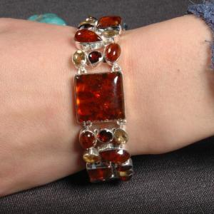 Manik Bracelet on 925 Sterling