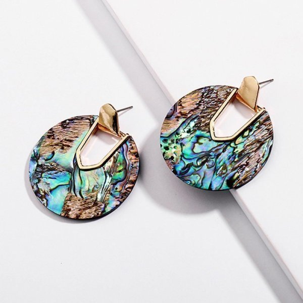 Earrings in Abalone Shell
