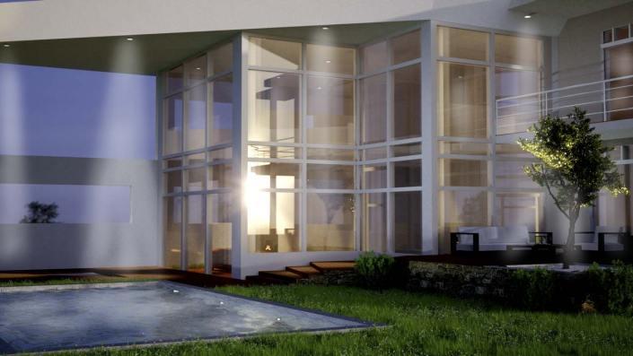 vue jardin maison architecte
