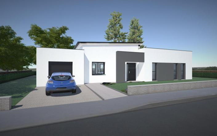 vue extérieur maison individuelle Application 3D de visualisation interactive