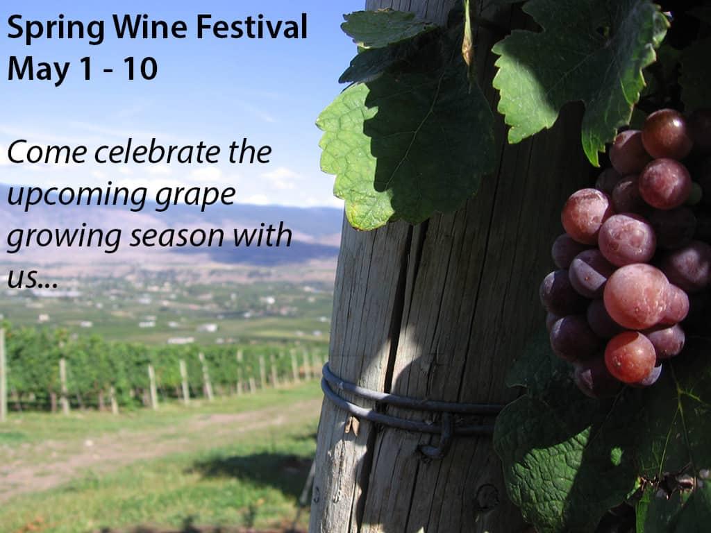 Spring Wine Festival in Kelowna BC