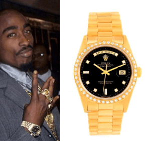 2pac rolex real trap fits for Rapper watches
