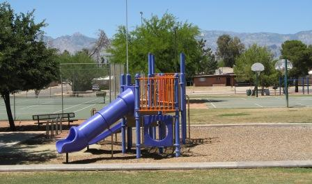 Playground, tennis and basketball are some of the amenities in the neighborhood