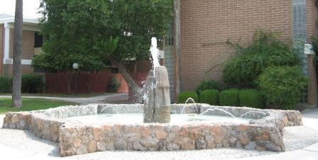 The fountain at Eden Roc Gardens, a unique mid-century modern condominium complex just east of Reid Park, in Tucson.
