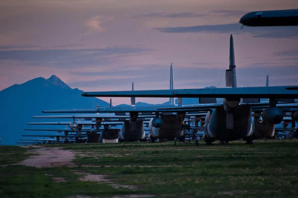 Davis Monthan airplane 'boneyard'