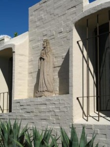 One of the many sculptures keeping watch in the catalina foothills condos neighborhood
