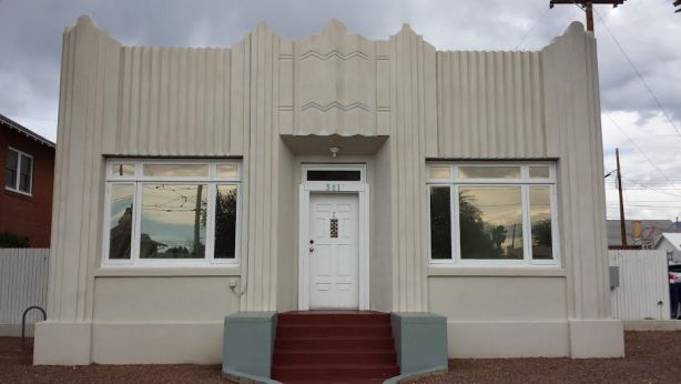 art deco facade addition by Henry Jaastad in 1934