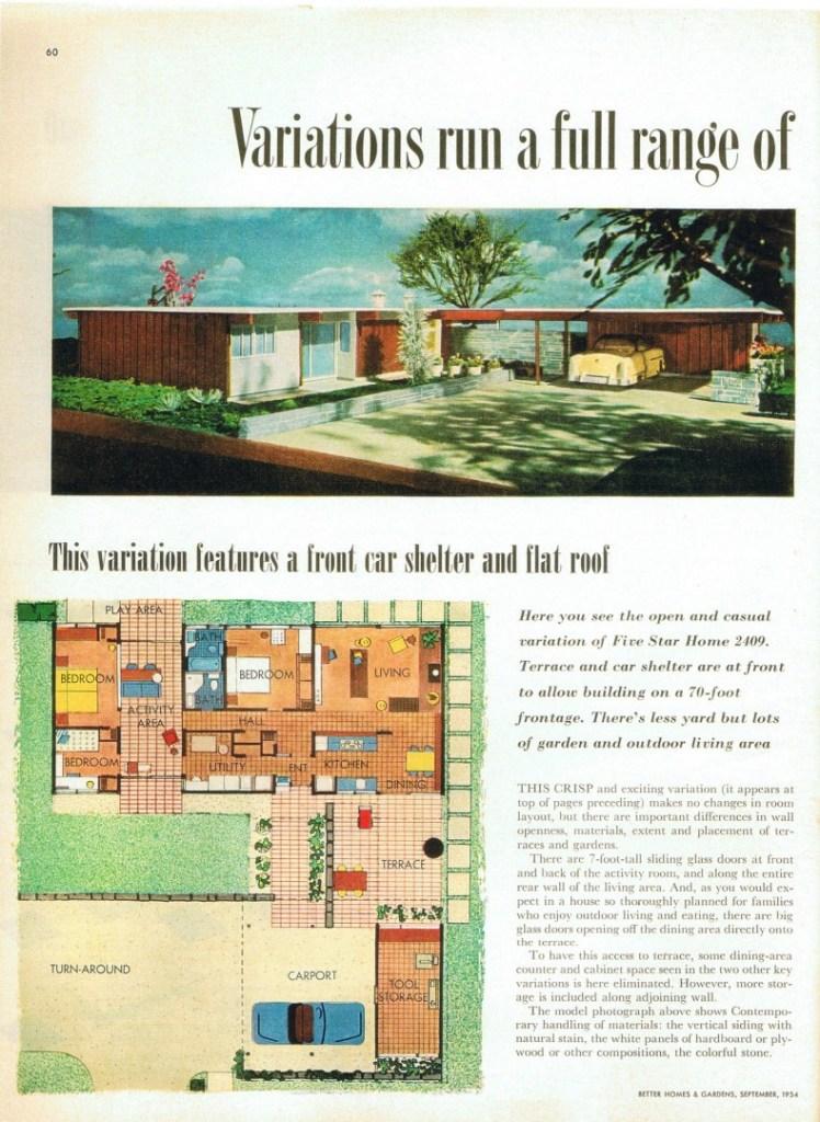 Midcentury home advertisement - Tucson Mid Century Homes