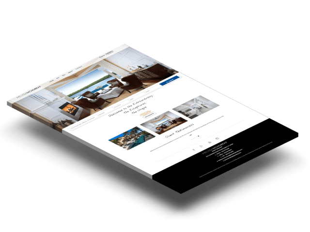 Naples real estate website example home page