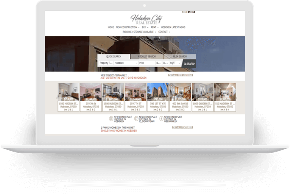 IDX real estate website for Hoboken New Jersey