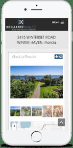 IDX mobile responsive customization