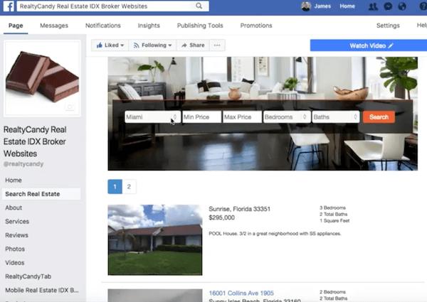 Facebook Search for IDX Broker | RealtyCandy WordPress and IDX Broker